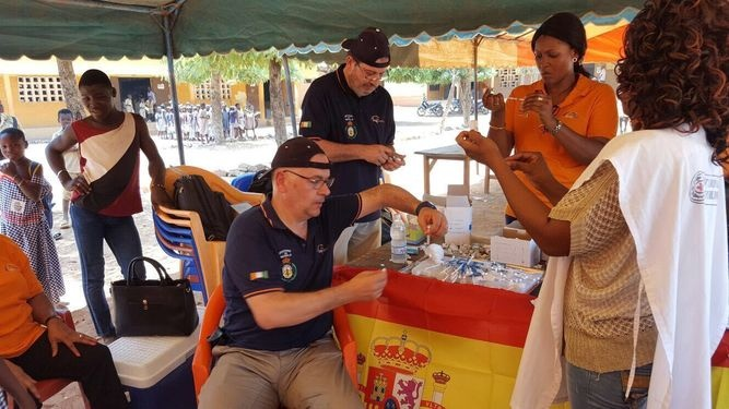 Los voluntarios de Grupo IHP en Costa de Marfil aparecen en varios medios de comunicación