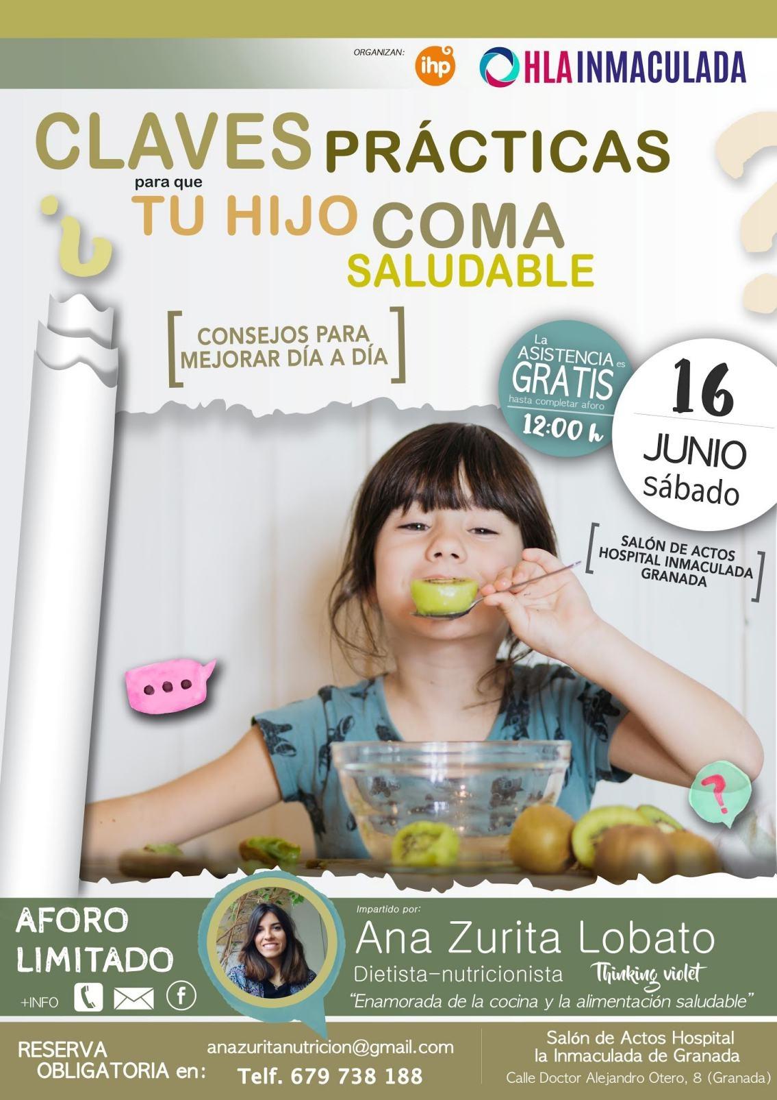 Claves prácticas para que tu hijo coma de forma saludable, taller gratuito de Grupo IHP en Granada