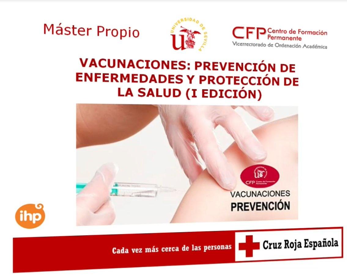 Nuevo máster Vacunaciones: prevención de enfermedades y protección de la salud, ofertado por la Universidad de Sevilla