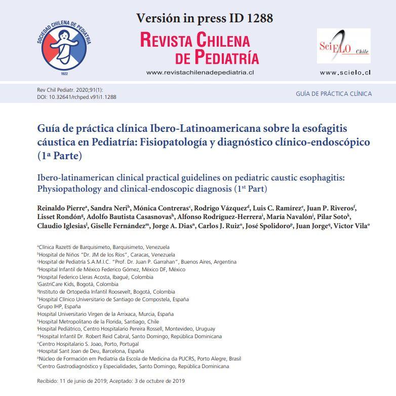 Grupo IHP participa en una guía sobre endoscopia pediátrica publicada por la Revista Chilena de Pediatría