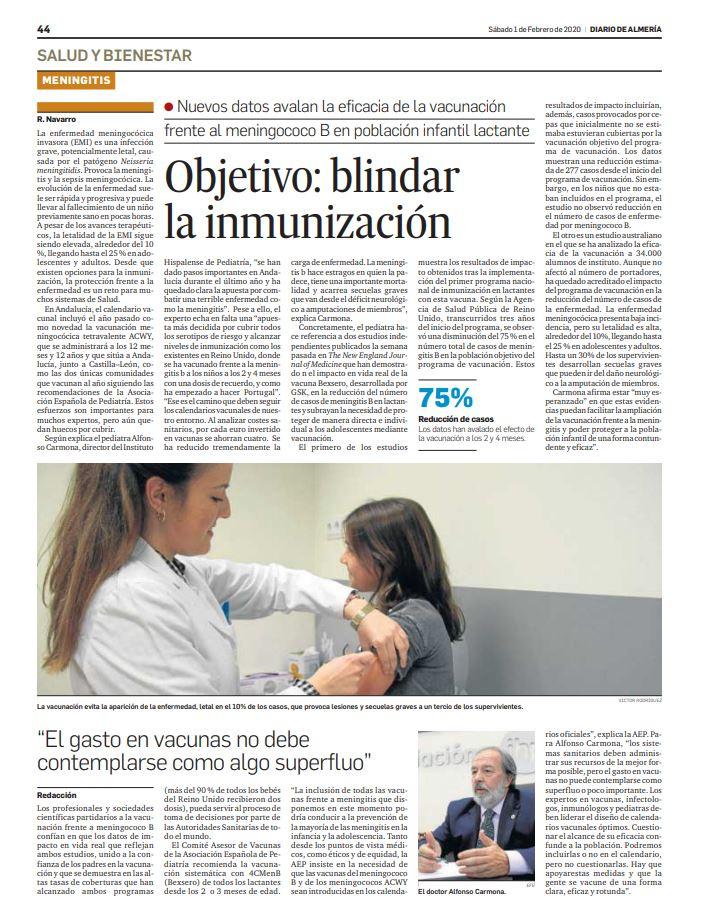 La vacunación frente a la enfermedad meningocócica, protagonista en los medios de comunicación