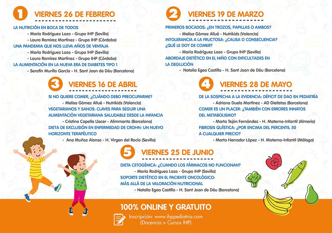 Grupo IHP amplía las plazas para participar en las Jornadas de Nutrición Infantil 2021