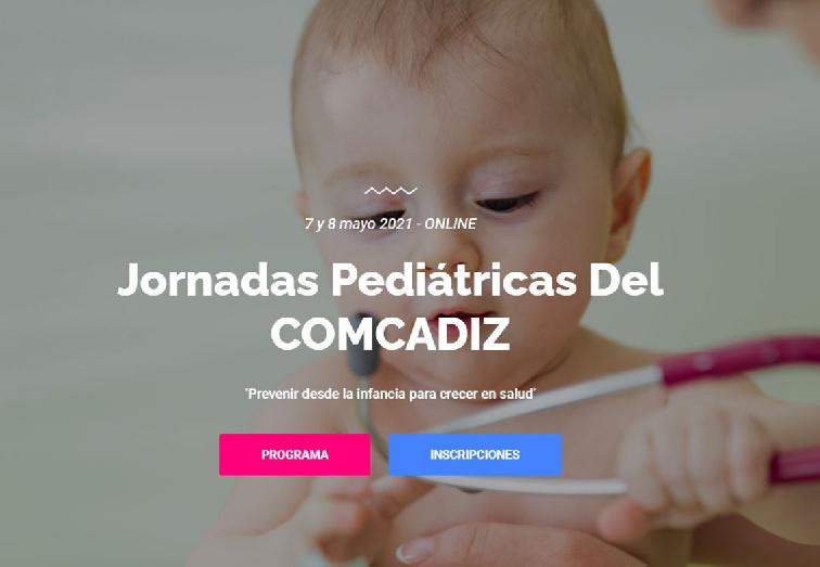 Las Jornadas Pediátricas del COMCADIZ se celebrarán los días 7 y 8 de mayo
